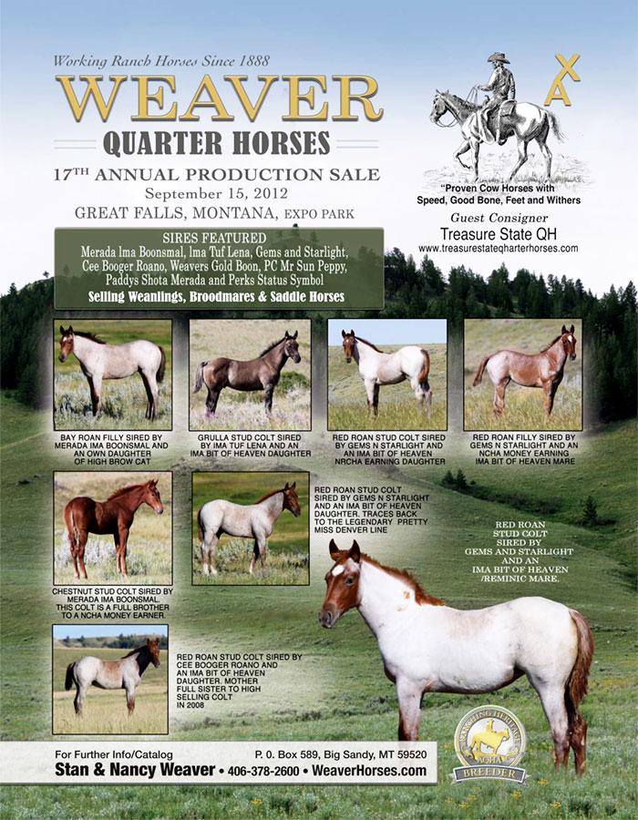Weaver Quarter Horse News